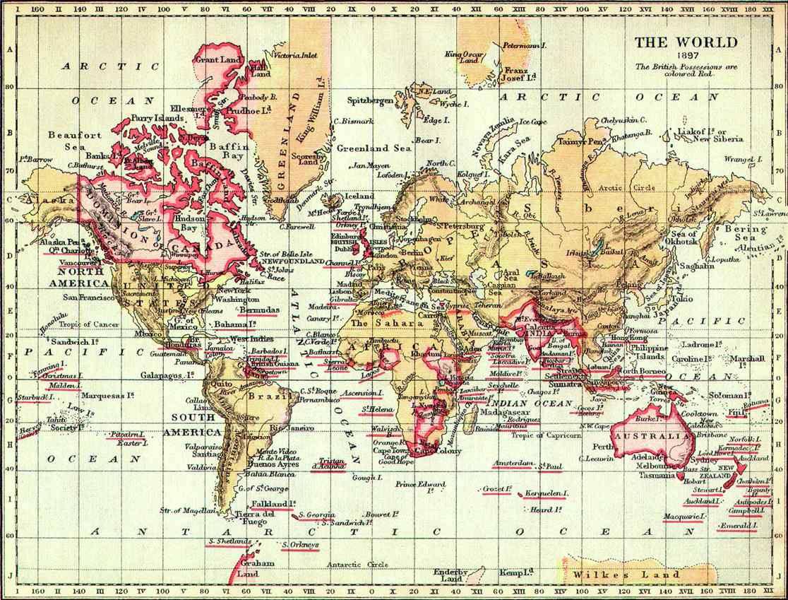British Possessions in Red, 1897